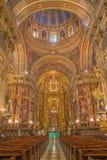 Granada - The nave of baroque church Basilica San Juan de Dios. Stock Photo