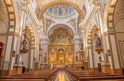 Granada - The nave of church Iglesia de los santos Justo y Pastor. Stock Image