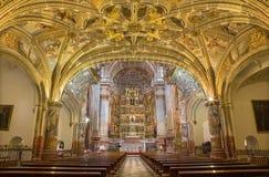 Granada - The nave of church Monasterio de San Jeronimo. Royalty Free Stock Image