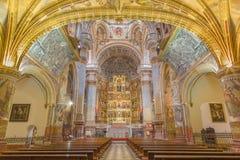 Granada - The nave of church Monasterio de San Jeronimo. Stock Photo