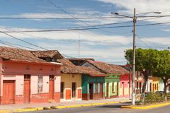 Colourful colonial street Stock Photos