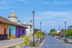 Granada , Nicaragua. MARCH 20 : Street view of Granada Nicaragua on March 20 2016. Granada was founded in 1524 and it's the first European city in mainland Stock Image