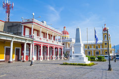 Granada , Nicaragua. MARCH 20 : Street view of Granada Nicaragua on March 20 2016. Granada was founded in 1524 and it's the first European city in mainland Royalty Free Stock Image
