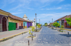 Granada , Nicaragua. MARCH 20 : Street view of Granada Nicaragua on March 20 2016. Granada was founded in 1524 and it's the first European city in mainland Royalty Free Stock Photos