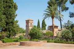 Granada - ogródy Alhambra Obraz Royalty Free