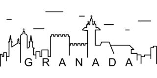 Granada outline icon. Can be used for web, logo, mobile app, UI, UX stock illustration