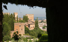 Granada - The outlook over the Alhambra Stock Photo