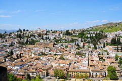 Granada overview Royalty Free Stock Photos