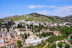 Granada overview Stock Photo