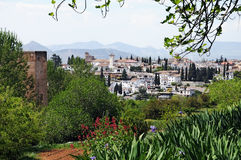 Granada overview Stock Photography