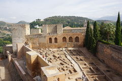 Granada palace. From Andalusia in Spain Royalty Free Stock Image