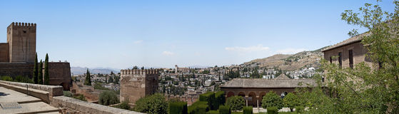 Granada panorama. A panorama of Granada taken from the Alhambra, Andalucia, Spain Stock Images