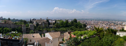 The Granada. The panorama of Granada city, Andalucia, Spain Royalty Free Stock Photos
