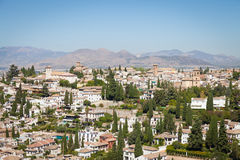 Granada panorama Royalty Free Stock Photos