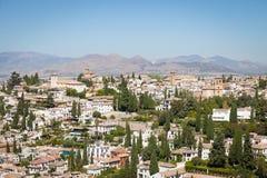 Granada panorama. Spain, Andalusia Region, Granada town panorama from Alhambra viewpoint Royalty Free Stock Photos