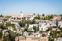 Granada panorama. Spain, Andalusia Region, Granada town panorama from Alhambra viewpoint Stock Images