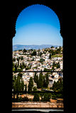 Granada panorama. Spain, Andalusia Region, Granada town panorama from Alhambra viewpoint Royalty Free Stock Image