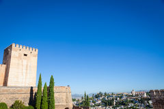 Granada panorama. Spain, Andalusia Region, Granada town panorama from Alhambra viewpoint Royalty Free Stock Photography
