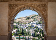 Granada panorama. Spain, Andalusia Region, Granada town panorama from Alhambra viewpoint Royalty Free Stock Image