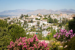 Granada panorama. Spain, Andalusia Region, Granada town panorama from Alhambra viewpoint Stock Photo