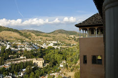 Granada-Panorama vom Alhambra Stockbilder