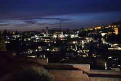 Granada. This is a picture of Granada at night Stock Photography