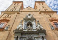 Granada - The porta of baroque church Nuestra Senora de las Angustias. Stock Photo