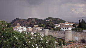 Granada, province of Andalusia, in windy day, Spain stock video