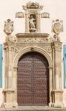 Granada - renässansportal av kyrkliga Iglesia de San Matias från 16 cent Arkivbilder