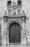 Granada - The  renaissance portal of St. Ann church Stock Photo