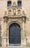 Granada - The  renaissance portal of St. Ann church by Sebastian de Alcantara (1542). Royalty Free Stock Images