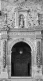 Granada - The renaissance portal of st. Cecilio church by Juan de Marquina (1533). Stock Image