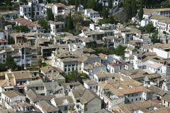 Granada roofs royalty free stock photos
