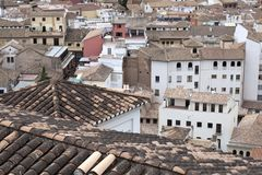 Granada rooftops stock photos