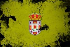 Granada rostig und Schmutzflaggenillustration lizenzfreie abbildung