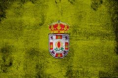 Granada rostig und Schmutzflaggenillustration vektor abbildung