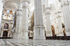 Granada's cathedral interior Royalty Free Stock Images