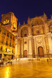 Granada's Cathedral at night Stock Photo