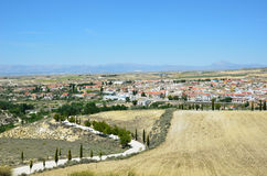 Granada's spring view with town Cullar Royalty Free Stock Photos