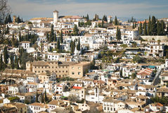 Granada Sacramonte view Royalty Free Stock Images