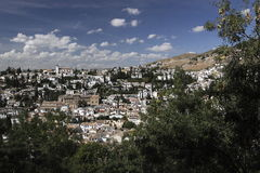Granada scenery Royalty Free Stock Images
