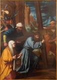 Granada - schilderende Veronica veegt het gezicht van Jesus van reflectory van kerk Monasterio DE La Cartuja af stock foto's