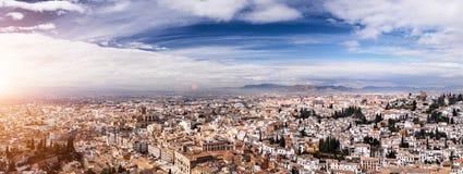 Granada sikt Andalucia, Espana Arkivbilder