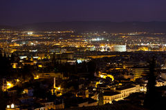 Granada skyline at night, Spain Stock Photography