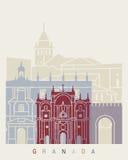 Granada skyline poster Stock Image