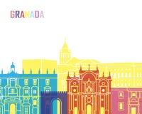 Granada-Skylineknall vektor abbildung
