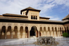 Granada slott Arkivfoto