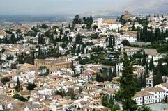 Granada, Spagna - città di EL Albaicin fotografie stock libere da diritti