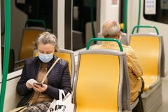 Free GRANADA, SPAIN, 23RD APRIL, 2020 People Wearing Mask In The Train During The Covid-19 Pandemic Royalty Free Stock Photography - 180500547