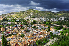 Granada, Spain. A view of Albaicin and Sacromonte districts in Granada, Spain Stock Photo